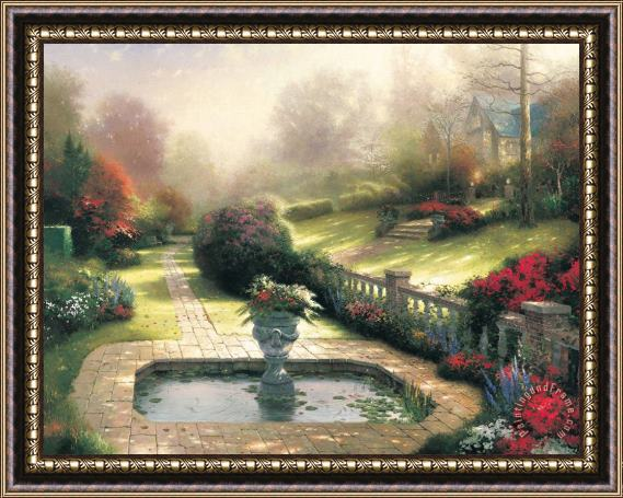 Thomas Kinkade Gardens Beyond Autumn Gate Framed Painting