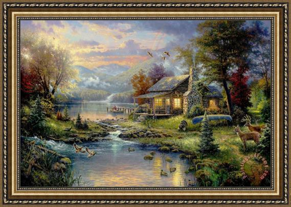 Thomas Kinkade Nature\'s Paradise Framed Print for sale ...