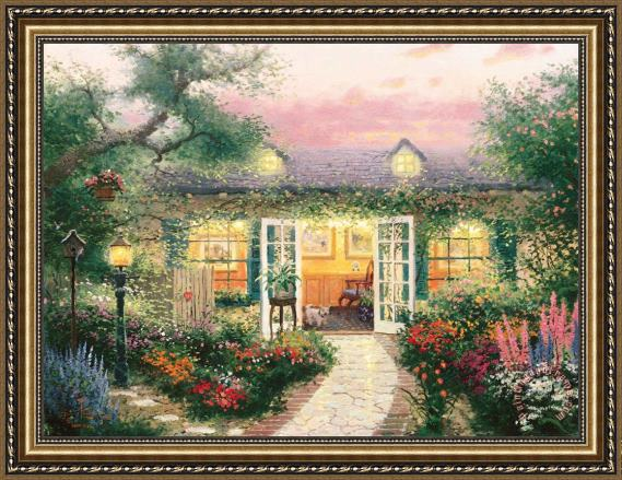 Thomas Kinkade Studio in The Garden Framed Painting