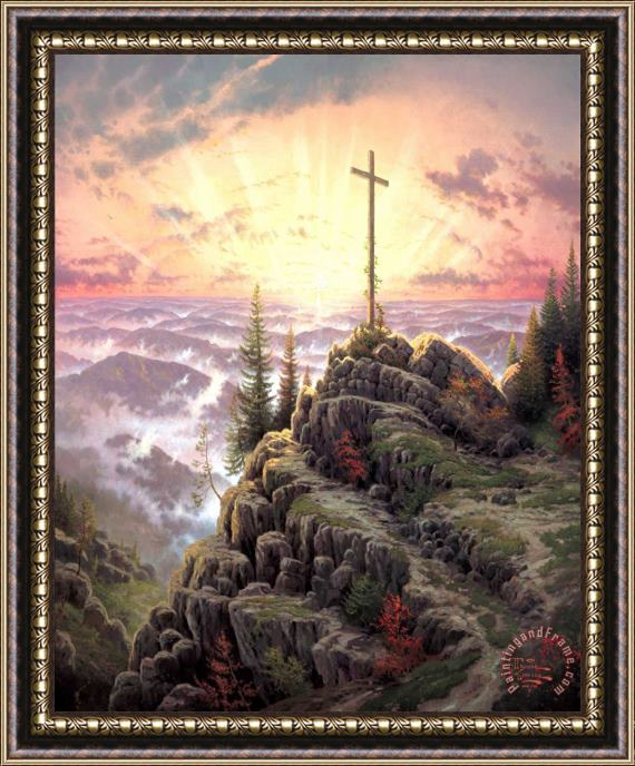 Thomas Kinkade Sunrise Framed Print