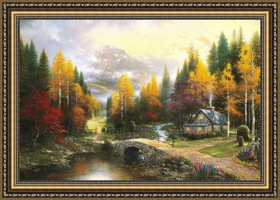 Thomas Kinkade The Valley Of Peace Framed Print For Sale