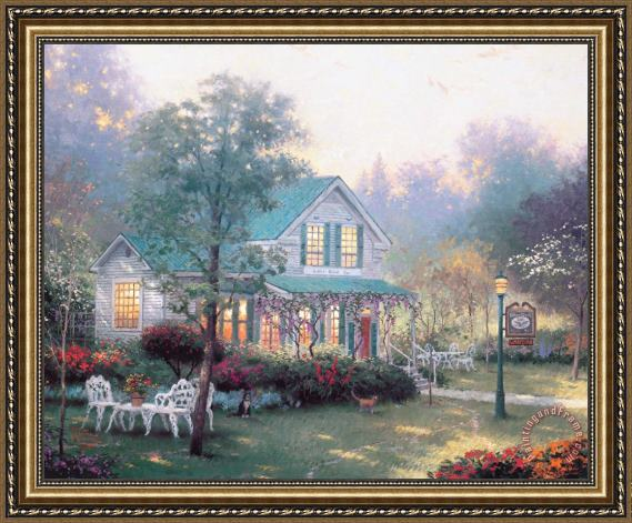 Thomas Kinkade The Village Inn Framed Print