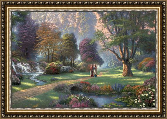 Thomas Kinkade Walk of Faith Framed Print