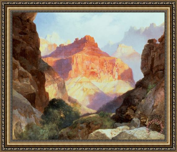 Thomas Moran Under the Red Wall Framed Print
