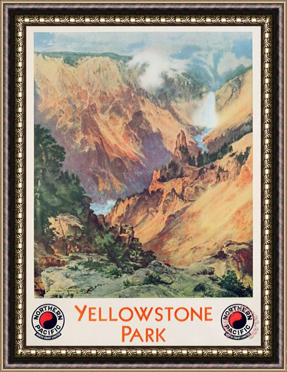 Thomas Moran Yellowstone Park Framed Print