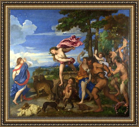Titian Bacchus And Ariadne Framed Print