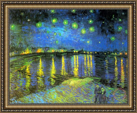 Vincent van Gogh Starry Night Over The Rhone Ii Framed Painting