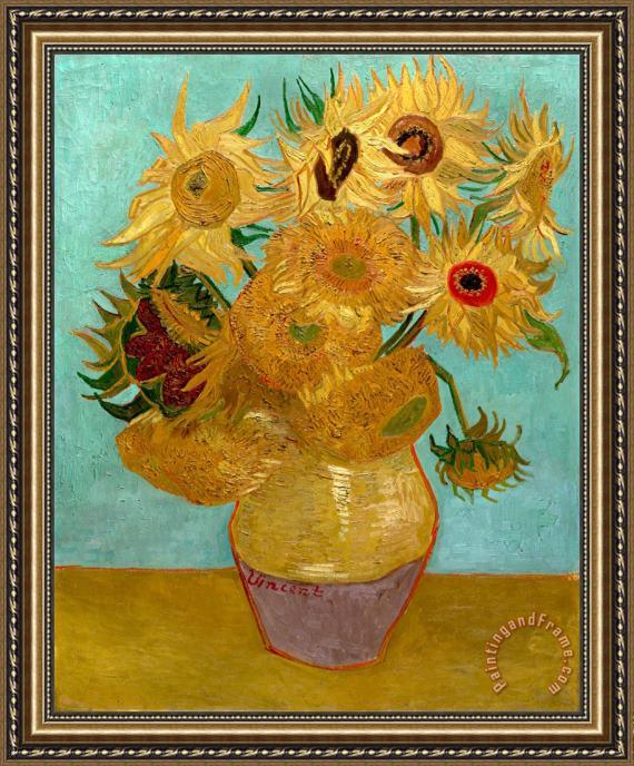 Best Vincent van Gogh Sunflowers Framed Print for sale  TF96