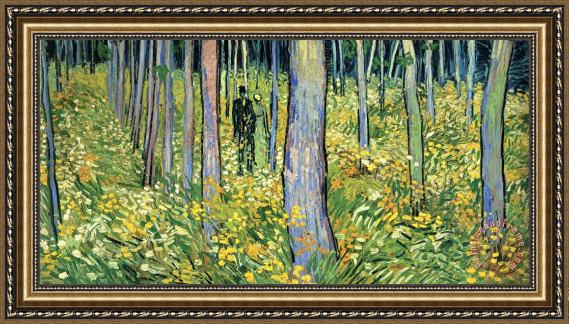 Vincent van Gogh Undergrowth with Two Figures Framed Print