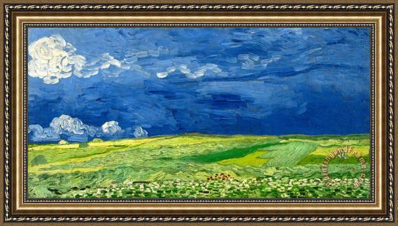Fresh Vincent van Gogh Wheatfield Under Thunderclouds Framed Print for  BO89