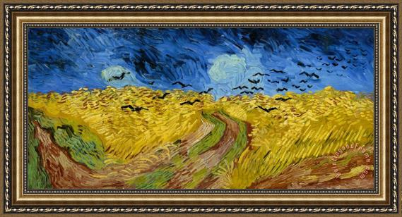 vincent van gogh wheatfield with crows wiki framed painting for sale