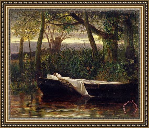 Walter Crane The Lady of Shalott Framed Painting