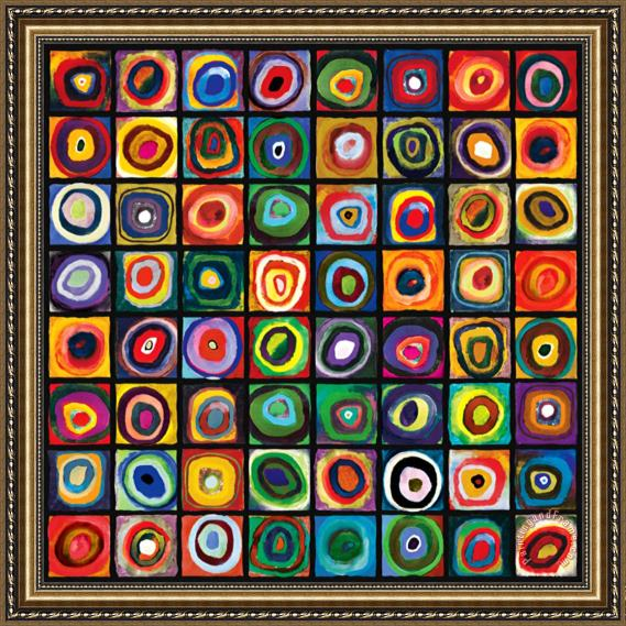 Kids Art Lesson: Kandinsky Inspired Concentric Circles ...