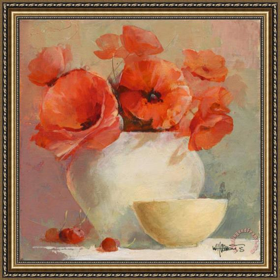 willem haenraets Lovely Poppies Ii Framed Painting