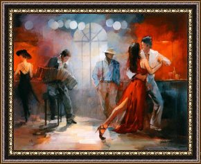 Tango Framed Paintings - Tango by willem haenraets