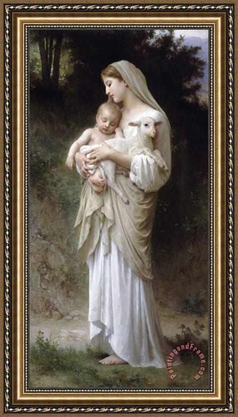 William Adolphe Bouguereau L'innocence Framed Print