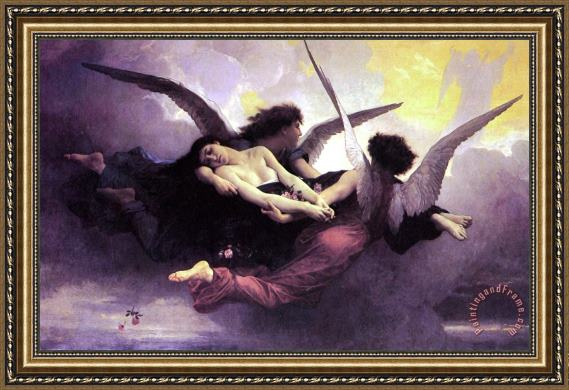 William Adolphe Bouguereau Soul Carried To Heaven Framed Print