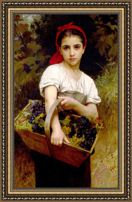 William Adolphe Bouguereau The Grape Picker Framed Print