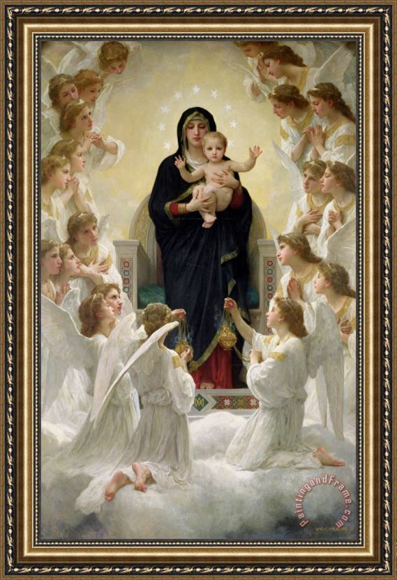 William Adolphe Bouguereau The Virgin with Angels Framed Print