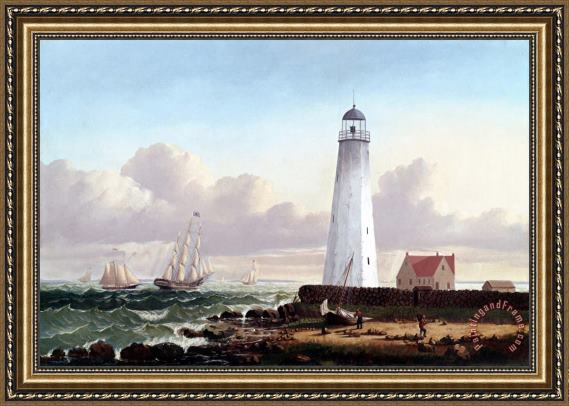 William Bradford Clark's Point Light, New Bedford Framed Painting