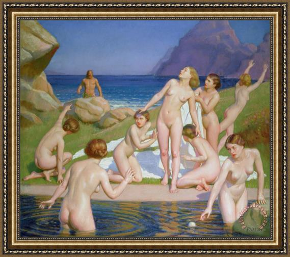 William McGregor Paxton Nausicaa Framed Print