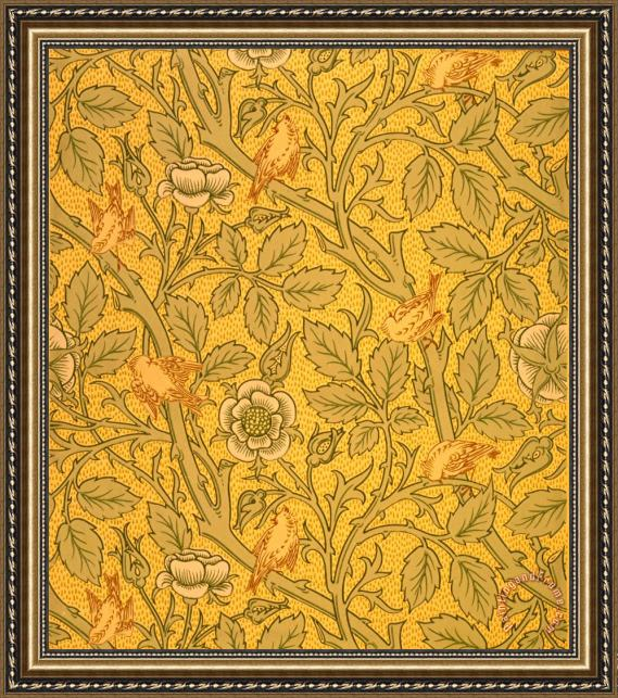 William Morris Bird Wallpaper Design Framed Painting