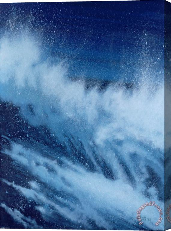 Alan Byrne Large Waves Breaking Stretched Canvas Painting / Canvas Art
