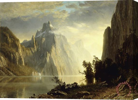 Albert Bierstadt A Lake in The Sierra Nevada Stretched Canvas Print / Canvas Art