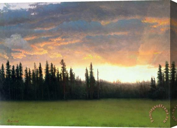 Albert Bierstadt California Sunset Stretched Canvas Print / Canvas Art