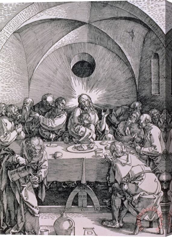 Albrecht Duerer The Last Supper From The 'great Passion' Series Stretched Canvas Print / Canvas Art