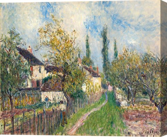 Alfred Sisley A Path at Les Sablons Stretched Canvas Print / Canvas Art