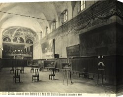 Santa Canvas Prints - Interior of the dining hall of the Church of Santa Maria delle Grazie Milan by Alinari