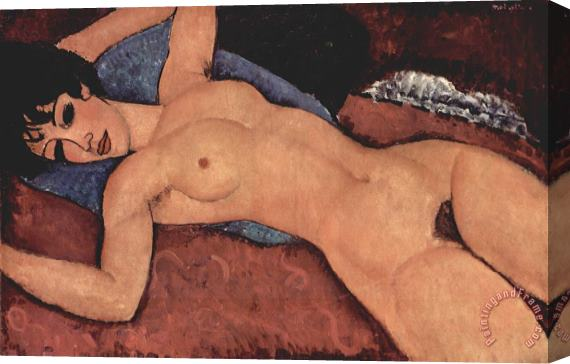 Amedeo Modigliani Reclining Nude Stretched Canvas Print / Canvas Art