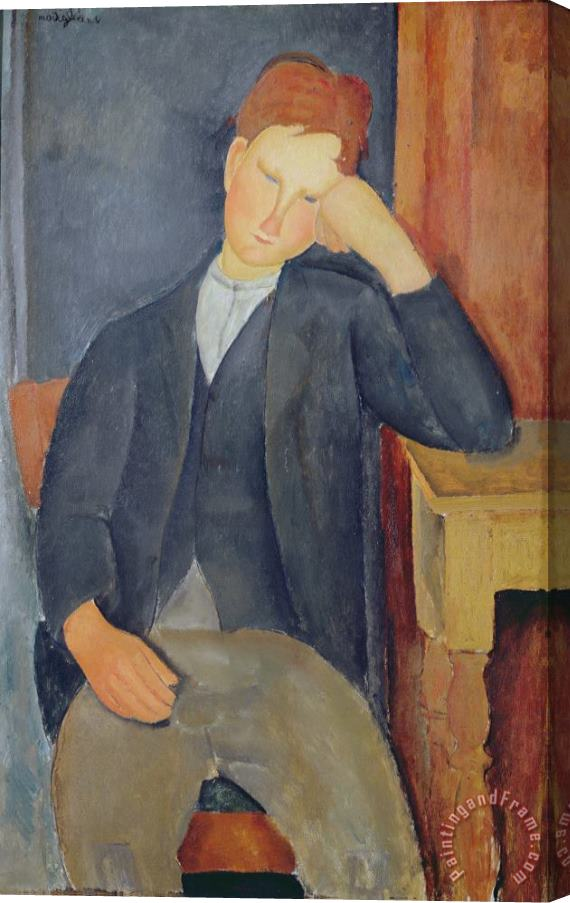 Amedeo Modigliani The young apprentice Stretched Canvas Print / Canvas Art