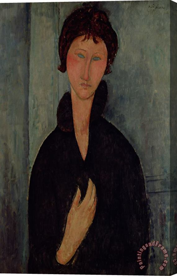 Amedeo Modigliani Woman with Blue Eyes Stretched Canvas Print / Canvas Art
