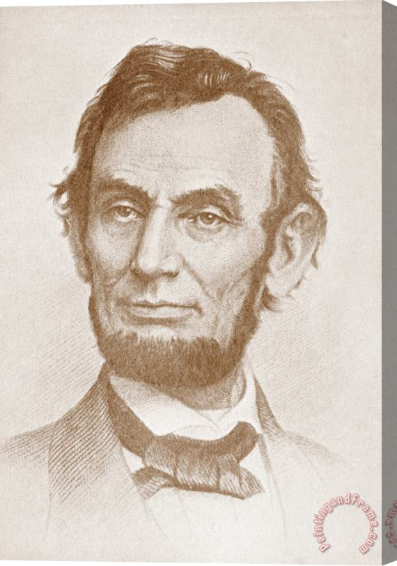 American School Abraham Lincoln Stretched Canvas Print / Canvas Art