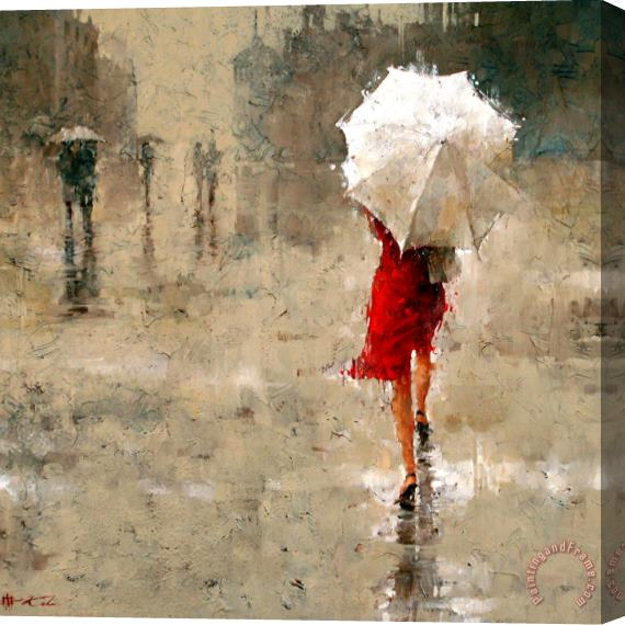 Andre Kohn Red And White Stretched Canvas Print / Canvas Art