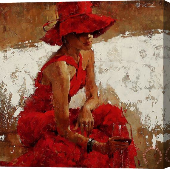 Andre Kohn Vintage Bordeaux Stretched Canvas Print / Canvas Art