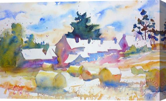 Andre Mehu Farms isle of Groix Brittany Stretched Canvas Print / Canvas Art