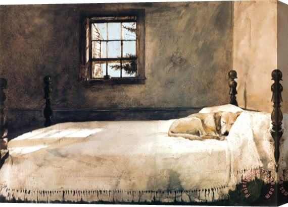 Andrew Wyeth Master Bedroom Stretched Canvas Print