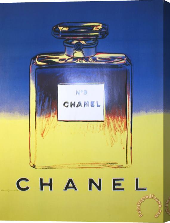 Andy Warhol Chanel Yellow And Blue Stretched Canvas Painting / Canvas Art