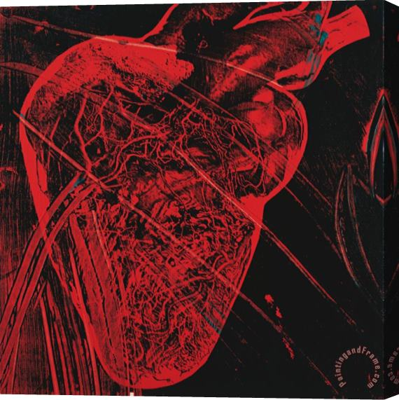Andy Warhol Human Heart C 1979 Red with Veins Stretched Canvas Print / Canvas Art