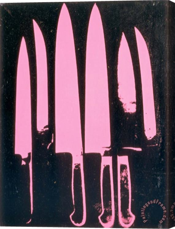 Andy Warhol Knives C.1981-82 Pink And Black Stretched Canvas Painting / Canvas Art