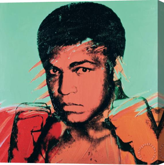 Andy Warhol Muhammad Ali Stretched Canvas Print / Canvas Art