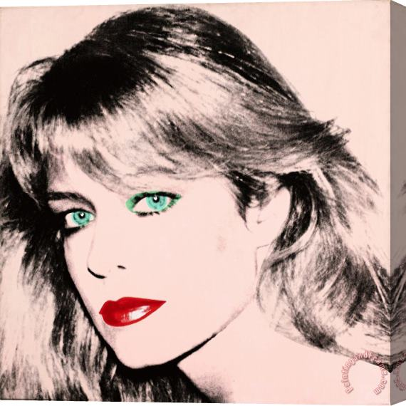 Andy Warhol Portrait of Farrah Fawcett Stretched Canvas Print / Canvas Art