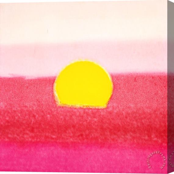 Andy Warhol Sunset C 1972 40 40 Pink Stretched Canvas Print / Canvas Art