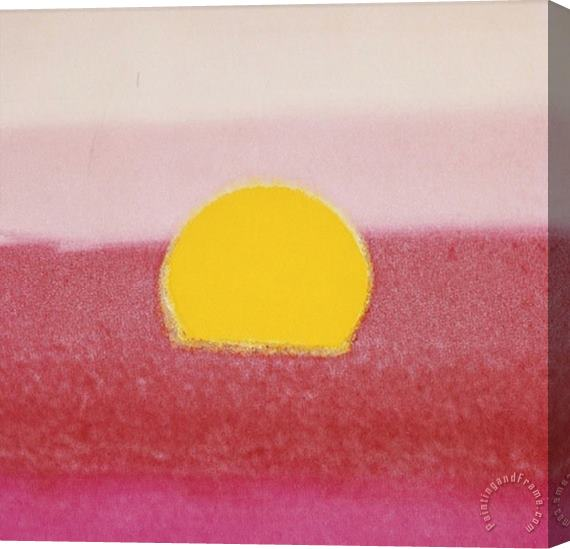 Andy Warhol Sunset C 1972 Hot Pink Pink Yellow Stretched Canvas Print / Canvas Art