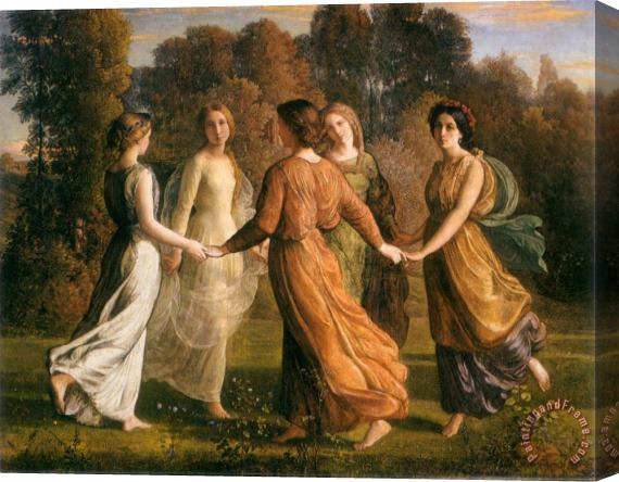 Anne Francois Louis Janmot The Poem of The Soul Rays of The Sun Stretched Canvas Print / Canvas Art