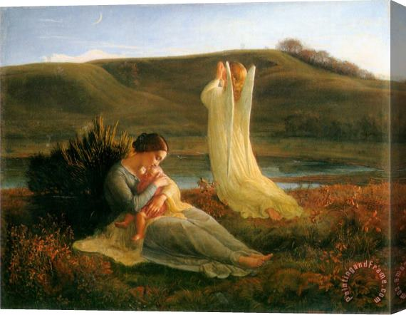 Anne Francois Louis Janmot The Poem of The Soul The Angel And The Mother Stretched Canvas Print / Canvas Art