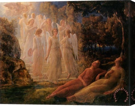 Anne Francois Louis Janmot The Poem of The Soul The Golden Ladder Stretched Canvas Print / Canvas Art